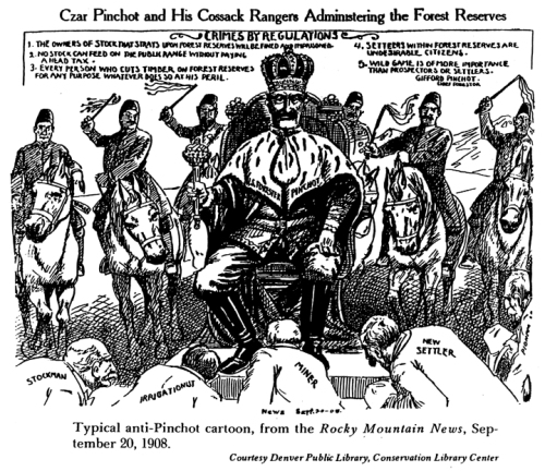 One of several cartoons depicting Gifford Pinchot as a czar.