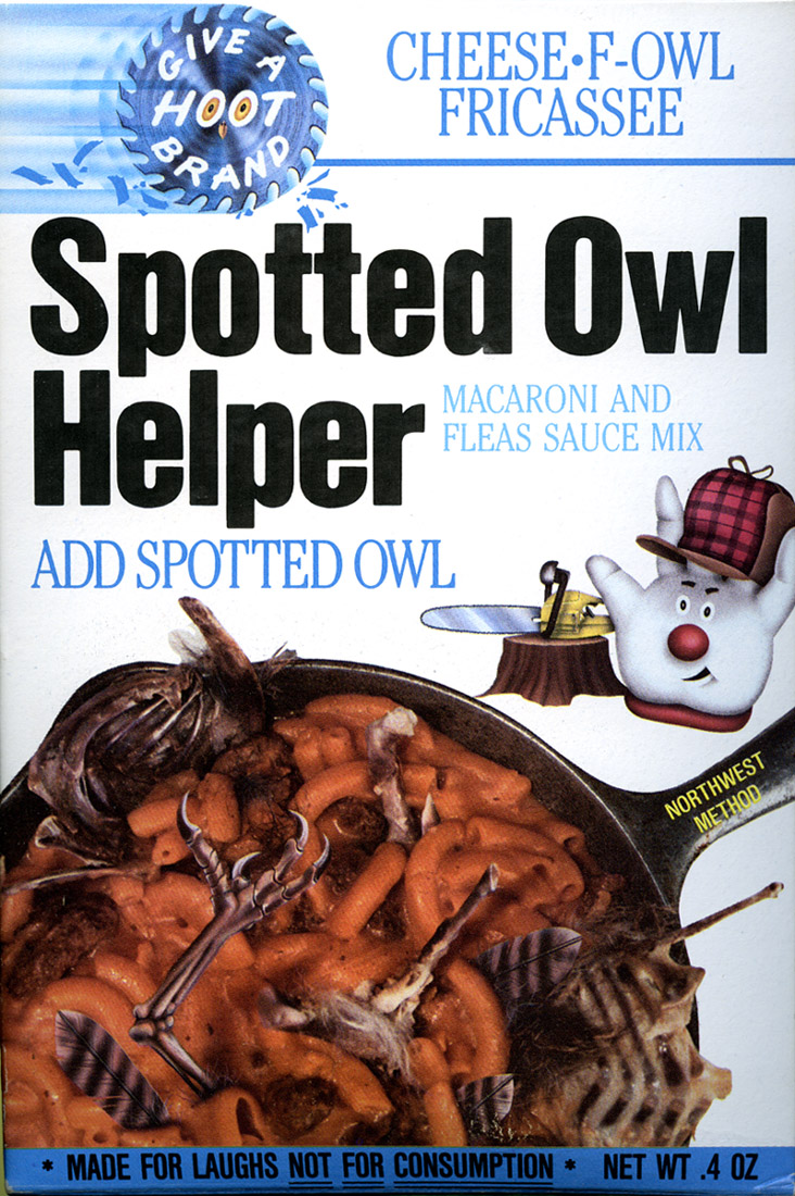 Spotted Owl Helper - Yum!