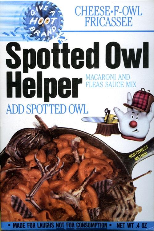 Spotted Owl Helper - Yum!