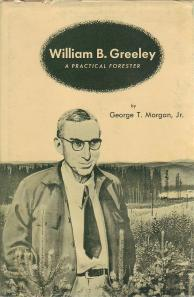 The cover of Morgan's biography came from a series of ads produced in the 1960s by the Weyerhaeuser Timber Company. Click on the image to see the ad.