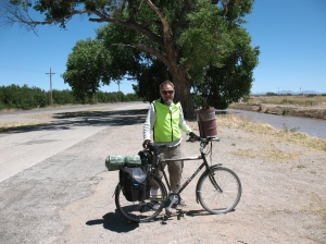 Jim Mack traveling in Texas. Trees took on a new significance to him as he biked across the country.