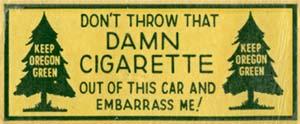 Keep Oregon Green sticker