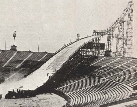 Ski Jump at Soldier Field, Chicago, 1937.