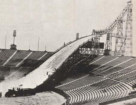 Ski Jump at Soldier Field, Chicago, 1937.