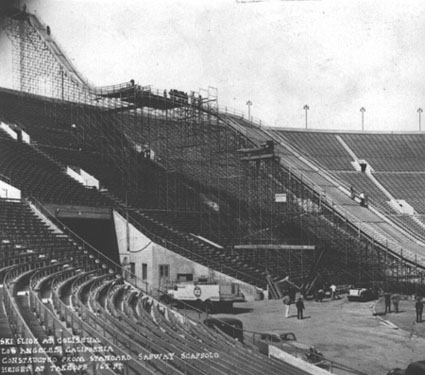 SKi Jump at Los Angeles Coliseum