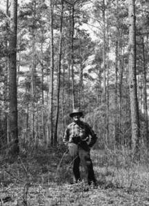 Herb Stoddard in 1964 in familiar surroundings.
