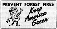 Woody Keep America Green stamp