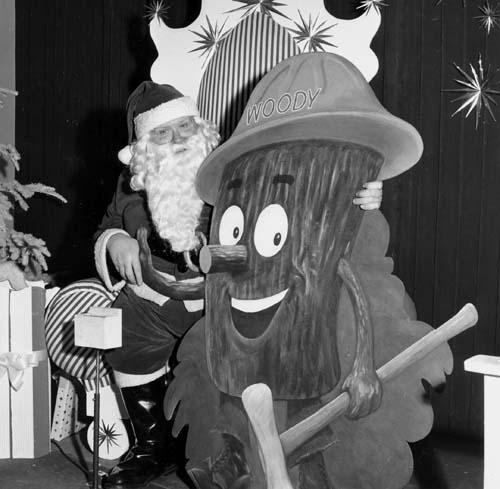 Woody with Santa