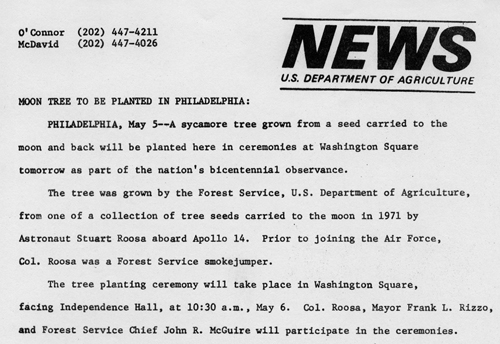 Moon Tree news release