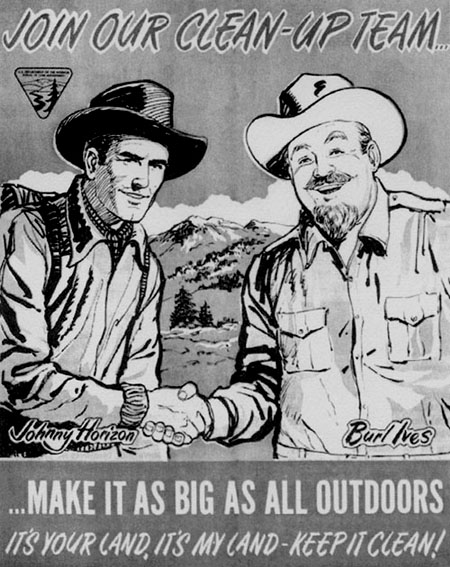 Burl Ives and Johnny Horizon