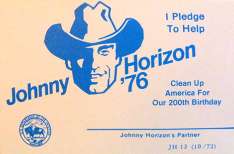 Johnny Horizon pledge card
