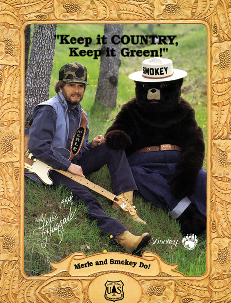Smokey Bear and Merle Haggard