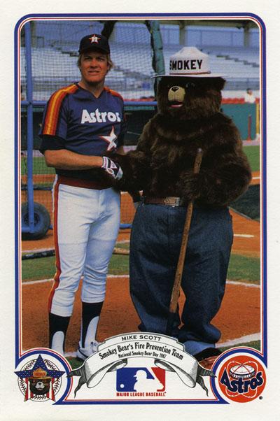 Mike Scott and Smokey Bear