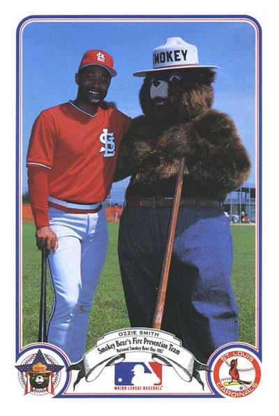 Ozzie Smith and Smokey Bear