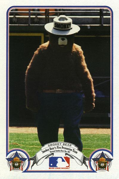 Smokey Bear baseball card