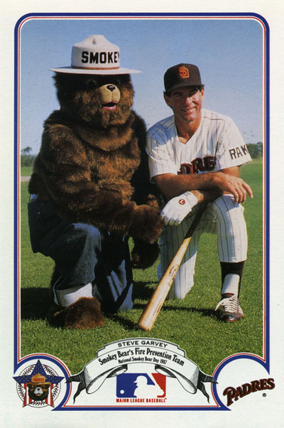 Steve Garvey and Smokey Bear