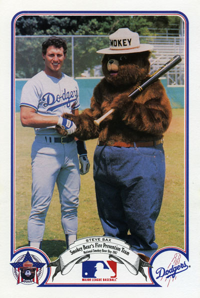 Steve Sax and Smokey Bear