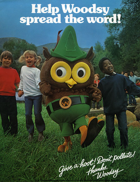 Woodsy Owl spreads the word