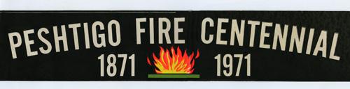Peshtigo Centennial bumper sticker