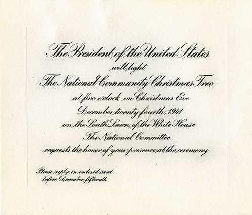 1941 invitation