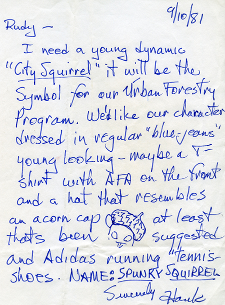 1981 letter from DeBruin to Wendlin