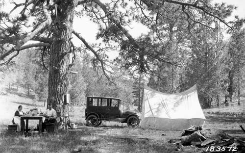 Boiling Spring Camp Ground, California, 1923.