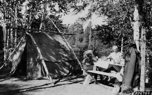 Sawbill Lake Campground, 1936.