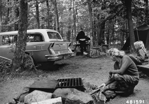 Namekagon campground, 1956.