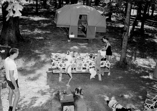 Wayne National Forest camping, 1960.