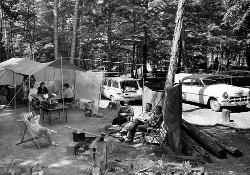 Franklin Lake Campground, 1960.