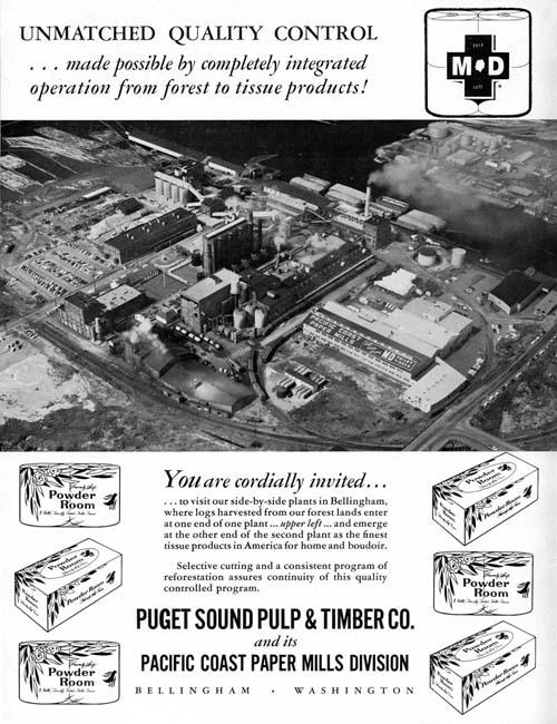 Puget Sound Pulp 1962 ad
