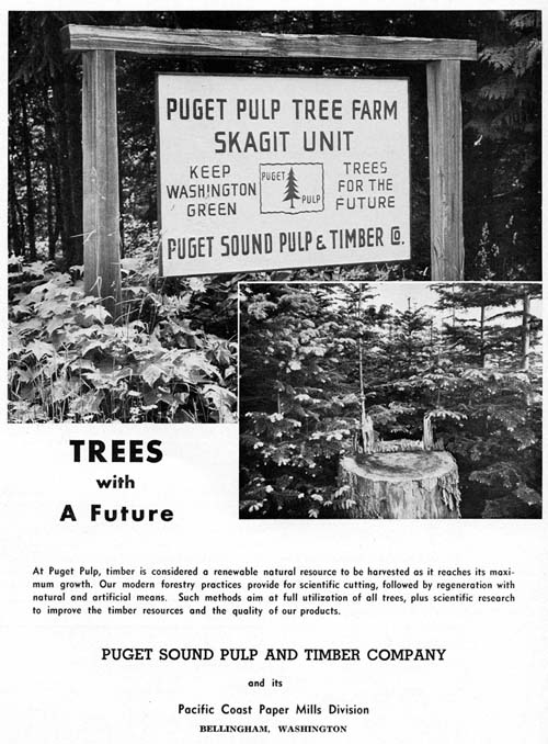 Puget Sound Pulp 1963 Tree Farm ad