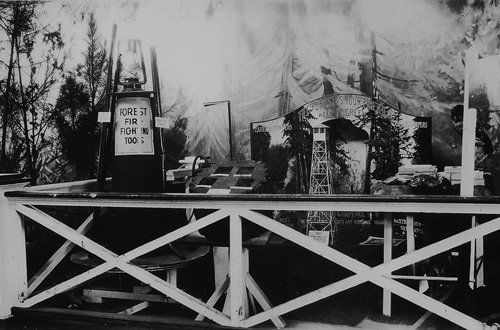Forest Planting and Fire Protection exhibit at the North Carolina State Fair, 1928.