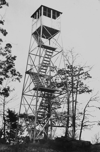Horse Ridge lookout tower in Burke County, NC.