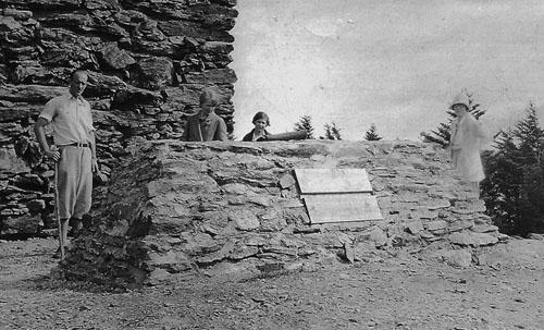Grave of Dr. Elisha Mitchell, 1927.