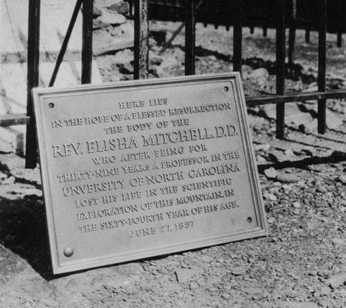 Elisha Mitchell tablet.