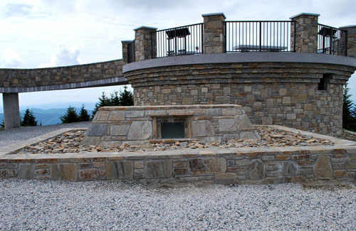 Elisha Mitchell grave, 2009.