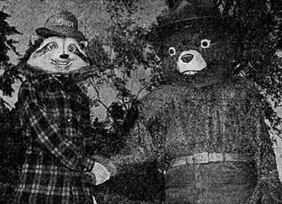 Howdy Raccoon and Smokey Bear