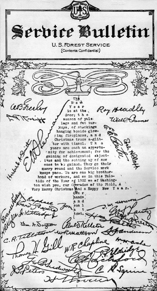1922 Forest Service Bulletin