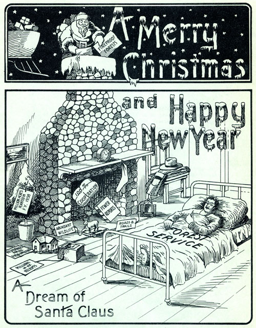 1936 Forest Service Bulletin - Christmas