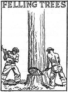 Felling Trees, CCC artwork.