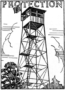 lookout tower art.