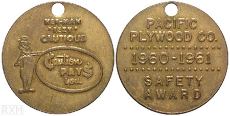 Pacific Plywood Co. safety award