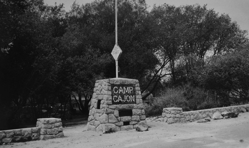 Camp Cajon entrance sign