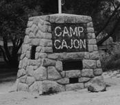 Camp Cajon stone sign