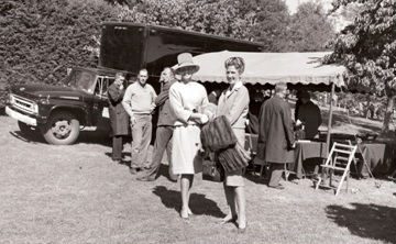 Sam Mattoon (right) with Margie Mattoon Cox (John A. Mattoon's sister) at the 1963 dedication.