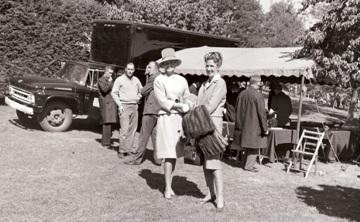 Sam Mattoon (right) with Margie Mattoon Cox (John A. Mattoon's sister) at the 1963 dedication.