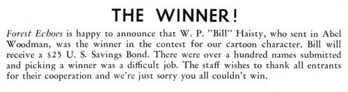 "Winner William ""Bill"" Preston Haisty, February 1948"
