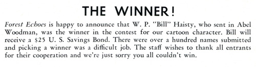 "Winner William ""Bill"" Preston Haisty, February 1948"