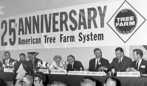 "Bill Hagenstein (third from right) considered his involvement in the founding of the American Tree Farm System ""the crowning achievement of his career."""
